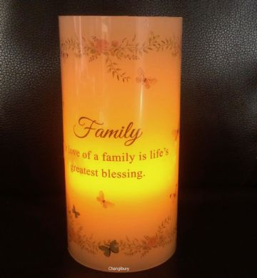 FAMILY Love Blessing Sentiment Flickering LED  Candle